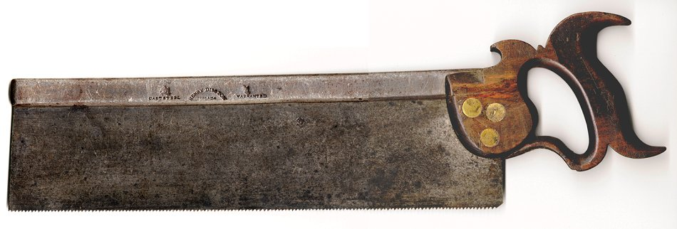 1840's Disston backsaw