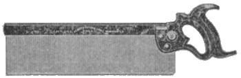 No. 4 Backsaw 1906 Catalog Illustration