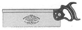 No. 77 1911 Backsaw Illustration